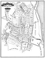 Antique Map Of Hartford Connecticut In 1640