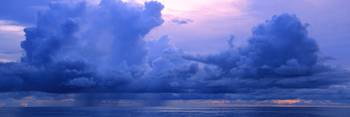 Blue Morning Clouds Panorama Skyscape