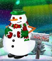 Frosty Town Christmas Folk Art