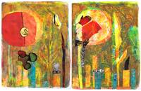 Sun To The Flame diptych