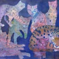 Its a Wonderful 9 Lives Art Prints & Posters by Sharon Giles