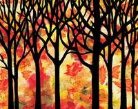 Fall Forest Abstract Decorative Painting