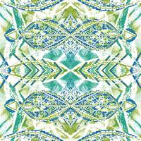 Blue Green Decorative Abstract