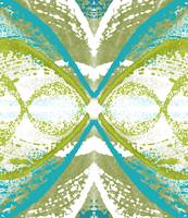 Blue and Green Abstract Wings
