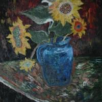 Richio Galvez Sunflowers Art Prints & Posters by Richio Galvez