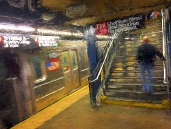 Chambers Street Subway New York City By Edward Bock