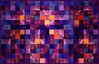Abstract Squares Triptych Gentle Purple