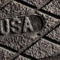 USA Strong in Gray by Karen Adams