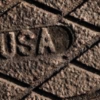 USA Strong in Sepia by Karen Adams