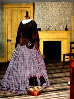 19th Century Plaid Dress