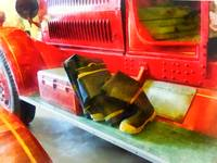 Two Pairs of Boots on Fire Truck