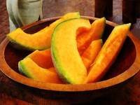 Slices of Cantaloupe