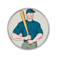 Baseball Player Batter Holding Bat Etching