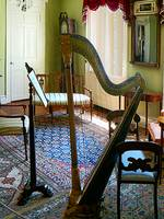 Harp in Living Room