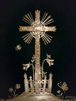 Straw Cross on Black Velvet