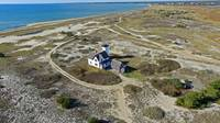Stage Harbor Lighthouse Aerial