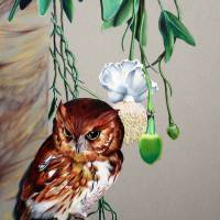 Red Owl Art Prints & Posters by Virginia Simmons