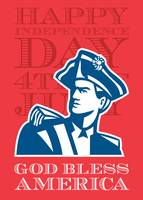 Independence Day Greeting Card-American Patriot So