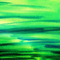 Green Abstract Landscape Painting Emerald Flow