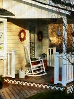 Rocking Chair on Side Porch