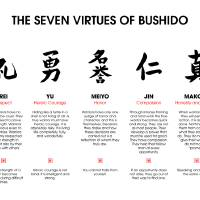 """7 Virtues of Bushido"" by juyodesign"