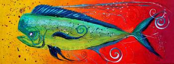 Abstract Mahi Mahi
