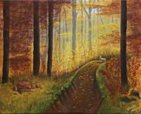 ACR8_Autumn'sWoodedRiverbed_16x20_acrylic