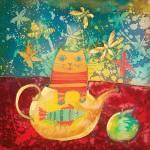 Cat in Yellow Teapot