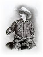 Cowboy in the Saddle, Pencil Realism, Western Art