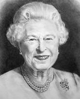 Queen Elizabeth ll: Pencil Portrait