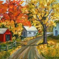 Autumn Farm by Ada Bess Williams 1957 by Karen Adams