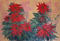 Red Poinsettias by George Wood