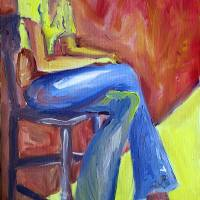 Girl Sitting by Karen Adams