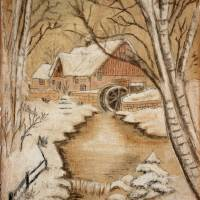 The Old Mill by George Perry Wood 1941 by Karen Adams