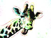 Giraffe - Smile - Pop Art