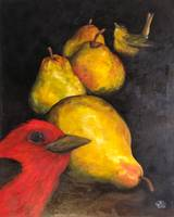 Summer Tanager's with Pears
