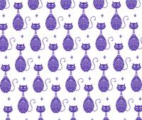 Purple Cats Pattern