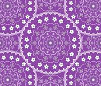 Purple Mandala Design