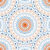 Blue Red Mandalas