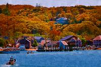 New England Fall Coastline by Kirt Tisdale