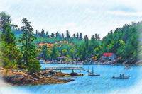 Friday Harbor Sketched by Kirt Tisdale