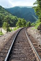 Train track in southern Appalachia