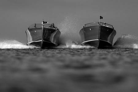 Black & White Series-Wooden Boat 10