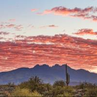 """Arizona Four Peaks Mountain Colorful View"" by lightningman"
