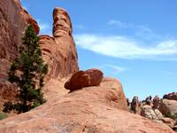 Amazing rock formations and hiking trail in Arches