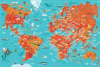 World Map by Nate Padavick by They Draw & Cook & Travel
