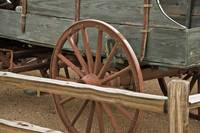 Red Wagon Wheel by Kirt Tisdale