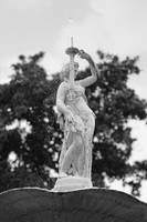 Forsyth Fountain Lady - Black and White by Carol Groenen