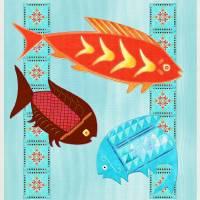 Native American River Folk Art Prints & Posters by Renee Lozen