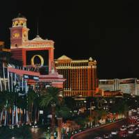 Las Vegas Strip Oil On Canvas Painting Art Prints & Posters by David Rives